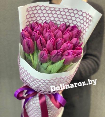 """Букет тюльпанов """"Фиолетовый вечер"""""""