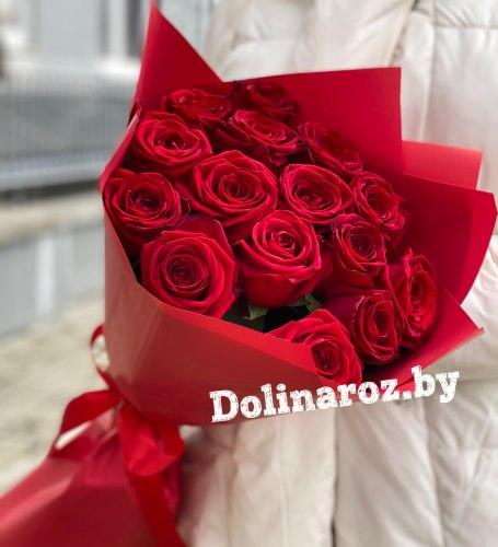"""Букет роз """"Бархатный"""" 15 роз"""