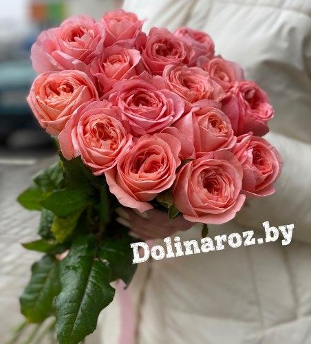 Букет роз «Закат» 15 роз