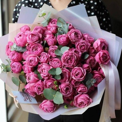 Кустовая пионовидная роза Мисти Баблс (Misty Bubbles)