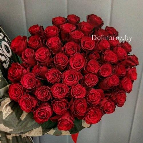 """Букет роз """"Родос 51"""" 51 роза"""