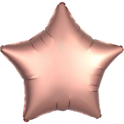 """Фольгированный шар """"Звезда, Розовое золото"""" 18″ (46 см)"""