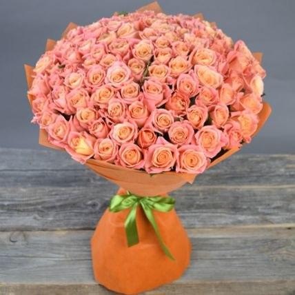 """Букет роз """"Нежные чувства"""" 101 роза"""