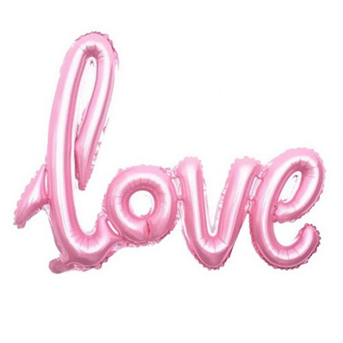 """Фольгированный шар """"Надпись love. Розовый"""" 75*57"""
