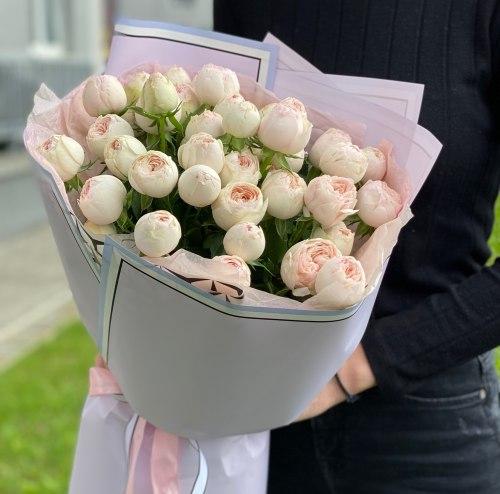 Букет «Мэнсфилд парк» Кустовые розы
