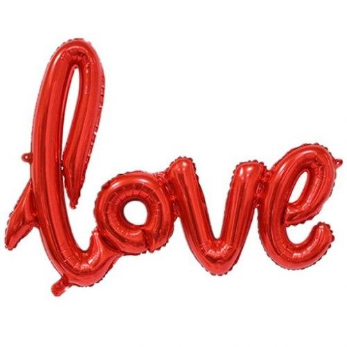 """Фольгированный шар """"Надпись love. Красный"""" 75*57"""