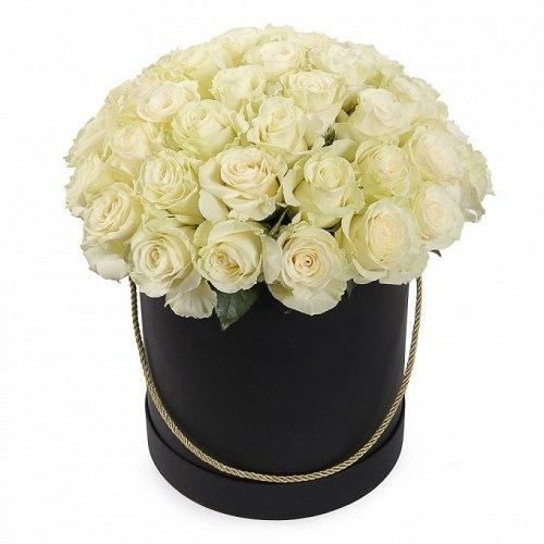 Цветы в коробке №7 51 роза
