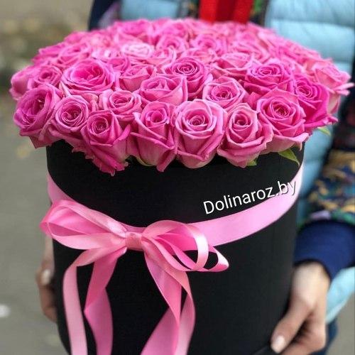 Коробка с 51 розовой розой 51 роза