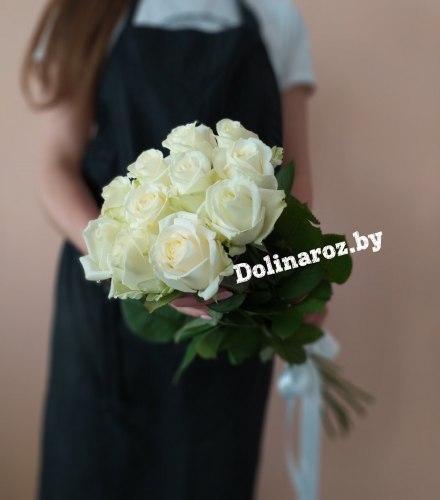 """Букет роз """"Беленький"""" 11 роз"""