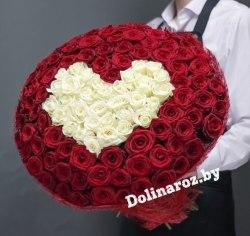 """Букет роз """"Люблю"""" 151 роза"""