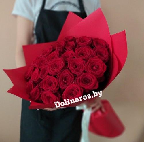 """Букет роз """"Пылкий"""" 25 роз"""
