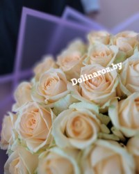 """Букет роз """"Персик"""" 25 роз"""