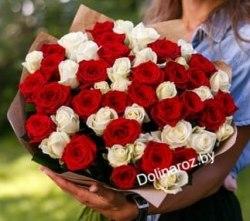 """Букет роз """"Краски"""" 51 роза"""