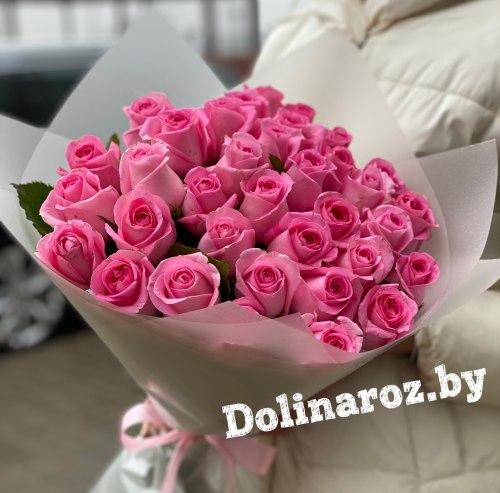 """Букет роз """"Розовый"""" 35 роз"""