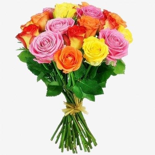 """Букет роз """"Замиксуем"""" 15 роз"""