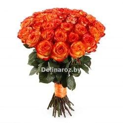 """Букет роз """"Огонь"""" 31 роза"""