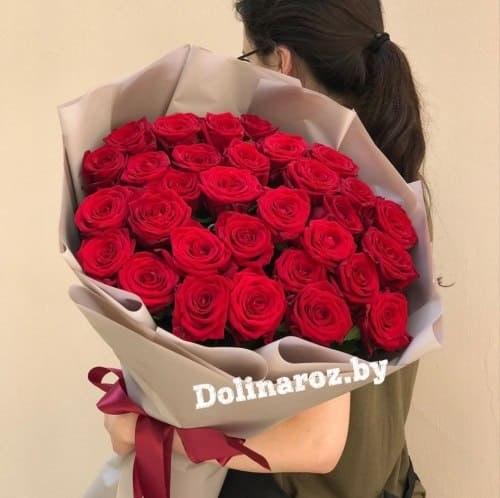 """Букет роз """"Страстный"""" 31 роза"""