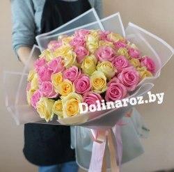 """Букет роз """"Ты и я"""" 51 роза"""