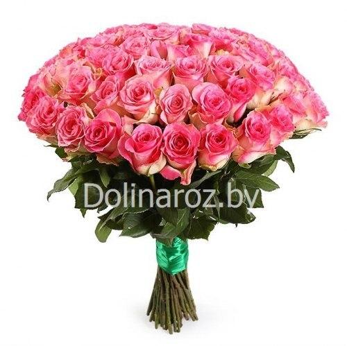 "Букет роз ""Теплый"" 51 роза"