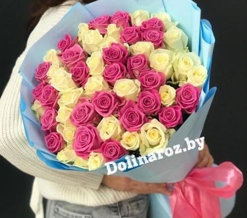 "Букет роз ""Кэнди"" 51 роза"