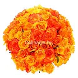"""Букет роз """"Пылающее солнце"""" 51 роза"""