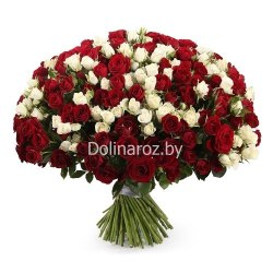 "Букет роз ""Блестящий"" 101 роза"