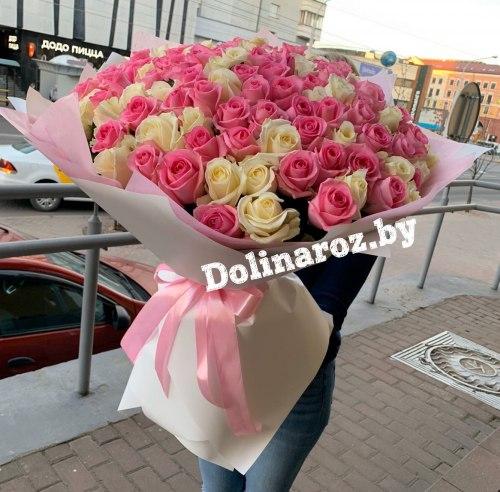 """Букет роз """"Малибу"""" 101 роза"""