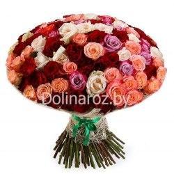 """Букет роз """"Мечты сбываются"""" 101 роза"""