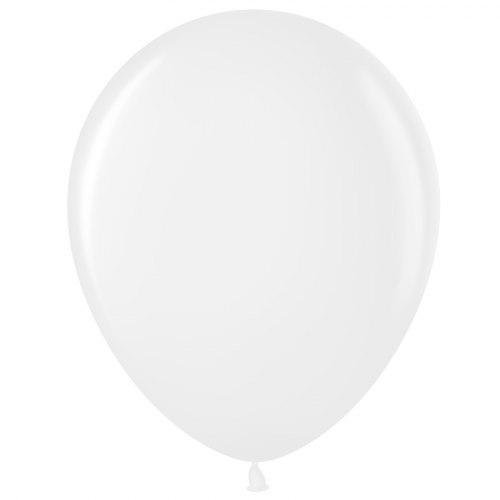 """Латексный шар с гелием """"Белый"""" 12"""" (30 см)"""