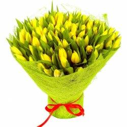 Букет тюльпанов 8 Марта 101 шт.