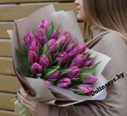 """Букет тюльпанов """"Фиолетовый"""""""