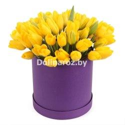 """Тюльпаны в коробке """"Солнечный день"""""""