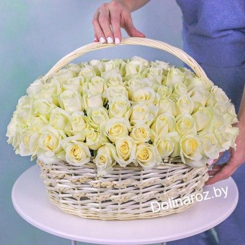 """Корзина роз """"Весенний день"""" 101 роза"""
