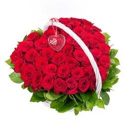 """Корзина роз """"Страсть и Любовь"""" 51 роза"""
