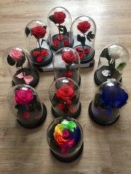 Розы в стеклянных колбах
