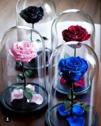 Розы в стеклянной колбе оптом
