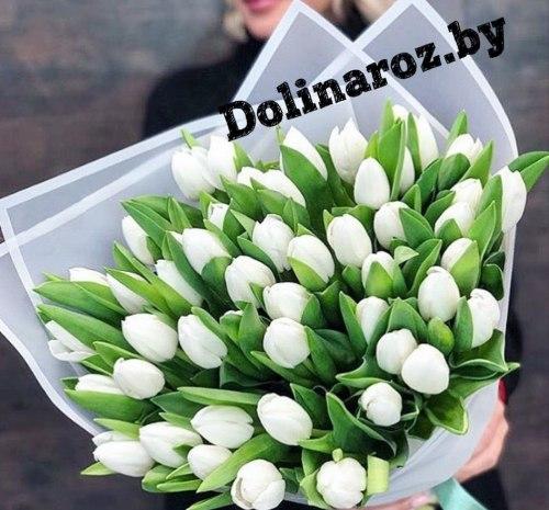 """Букет тюльпанов """"Белый"""""""