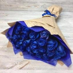 """Букет цветов""""Синева"""" 31 роза"""