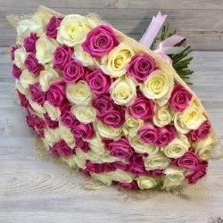 """Букет цветов """"Ласковый день"""" 101 роза"""