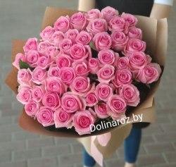 """Букет цветов """"Розовая пастила"""" 51 роза"""