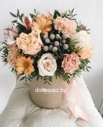 """Цветы в коробке """"Праздник начинается"""""""