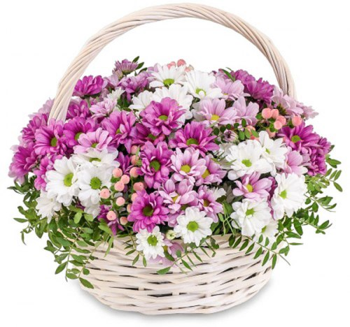 "Корзина цветов ""Хризантема Микс"""