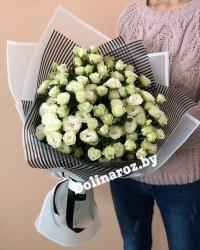 """Букет цветов """"Белая кустовая"""" Кустовые розы"""