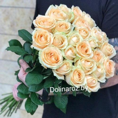 """Букет роз """"Кремовые"""" 25 роз"""