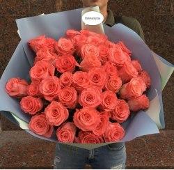 """Букет роз """"Коралловая нежность"""" 41 роза"""
