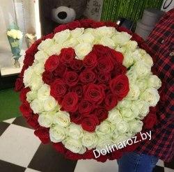 """Букет роз """"Сердце моё"""" 101 роза"""