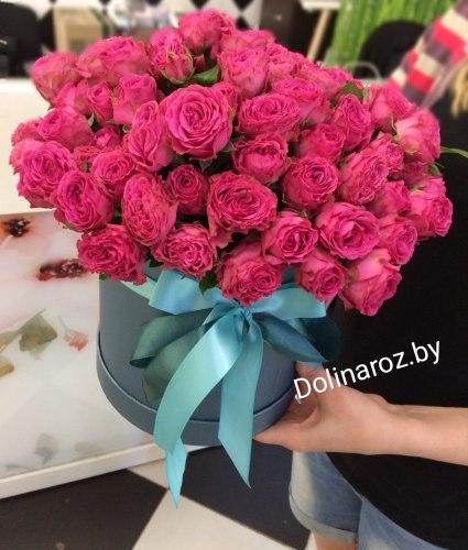 """Цветы в коробке """"Мода"""" Кустовые розы"""