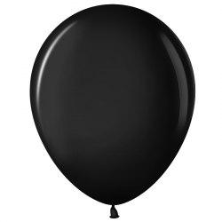 """Латексный шар с гелием """"Черный"""" 12"""" (30 см)"""
