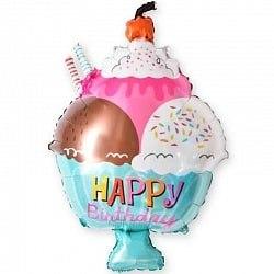 """Фольгированный шар """"Мороженое с вишенкой"""" 28"""" (71 см)"""