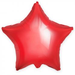 """Фольгированный шар """"Красная звезда"""" 18″ (46 см)"""